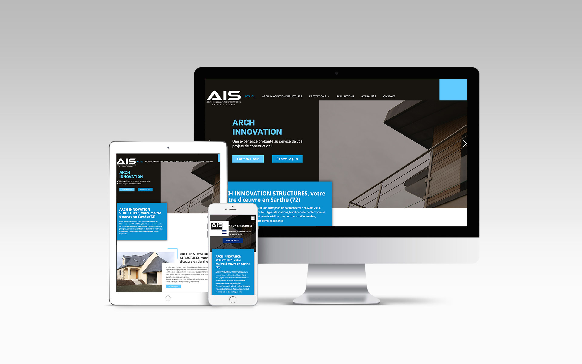 Arch Innovation Structures Constructeur Maison Website Mockup 130